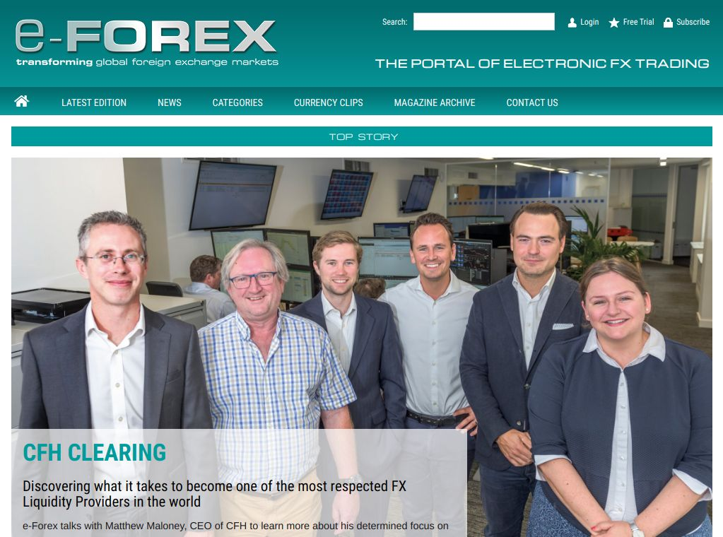 e-Forex Magazine homepage relaunch