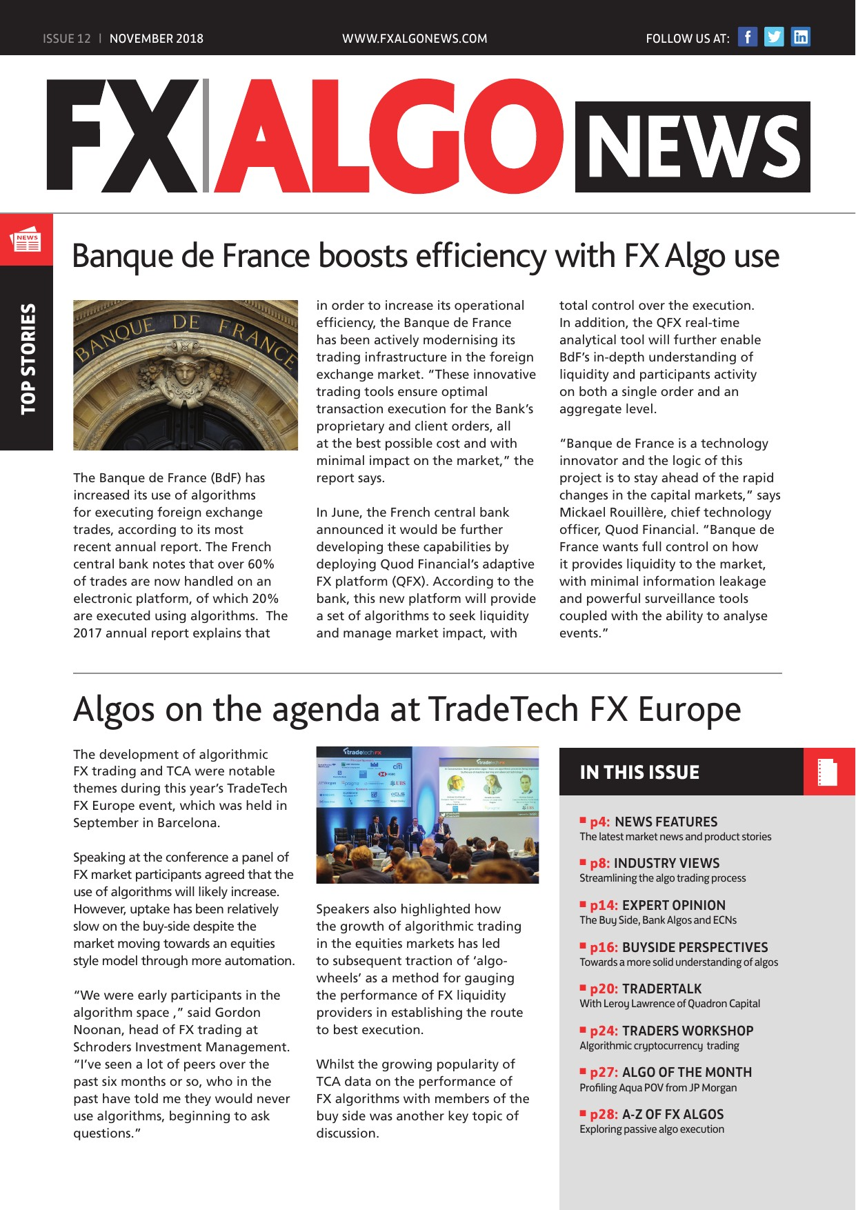 FX AlgoNews November Issue out now
